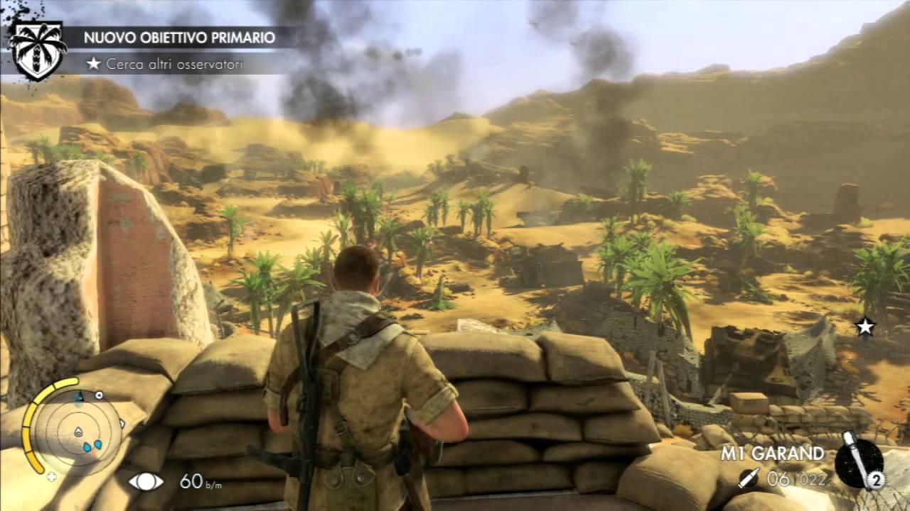 Sniper Elite 3 Gameplay Walkthrough Part 1 Afrika Ps3 Ita Eng