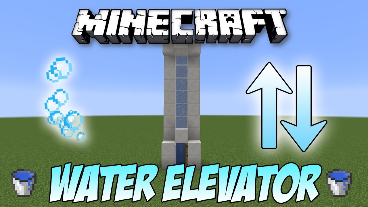 Minecraft: Fastest WATER ELEVATOR Tutorial (12.123)
