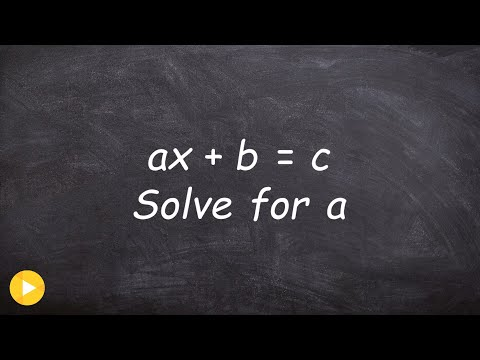 How do you solve a literal equation with all variables