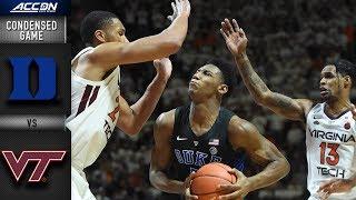 Duke vs. Virginia Tech Condensed Game | 2018-19 ACC Basketball