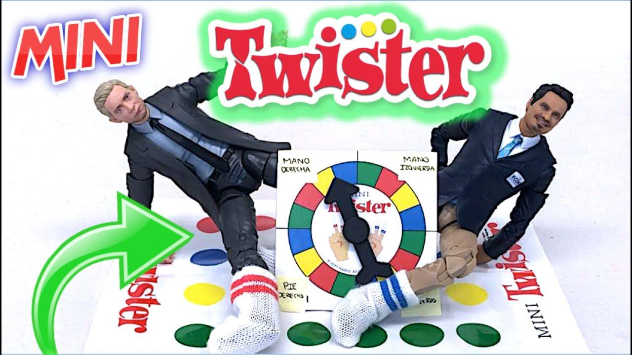 Jugamos al TWISTER MÁS PEQUEÑO DEL MUNDO (Hecho para Juguetes) - Reseña Mini Twister (Hasbro Gaming)