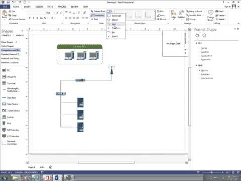 How To Create Basic Network Diagram With Visio