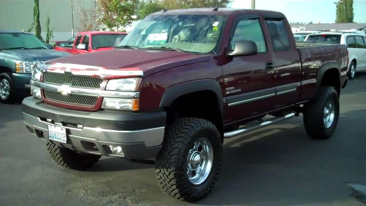 2003 Extended Cab Duramax JACKED AND STACKED! - YouTube