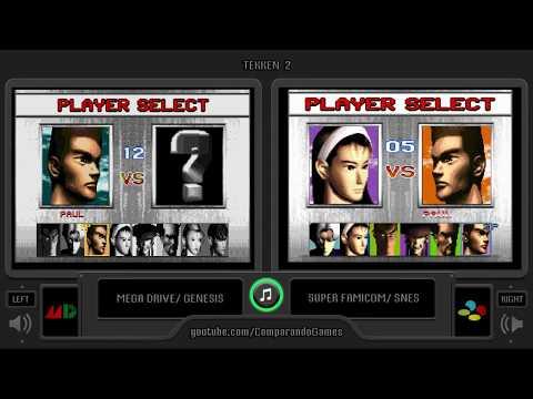 Tekken 2 (Sega Genesis vs Snes) Side by Side Comparison