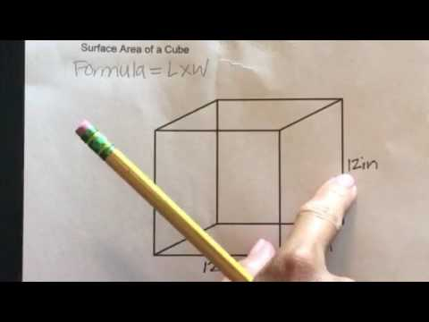 how to work out the surface area of a cube