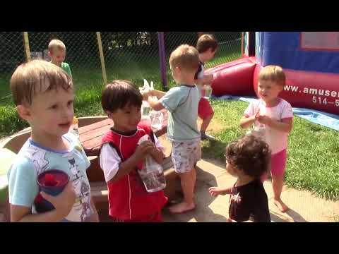 Les Moments De Plaisirs D'été à La Garderie Petit Winnie à Longueuil,Quebec, Canada