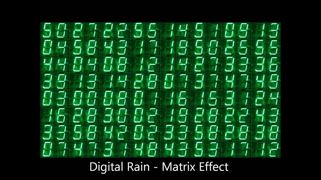 Digital Rain Wallpaper Matrix Effect Green Numbers And Cycles Soundtrack In High Definition HD Video