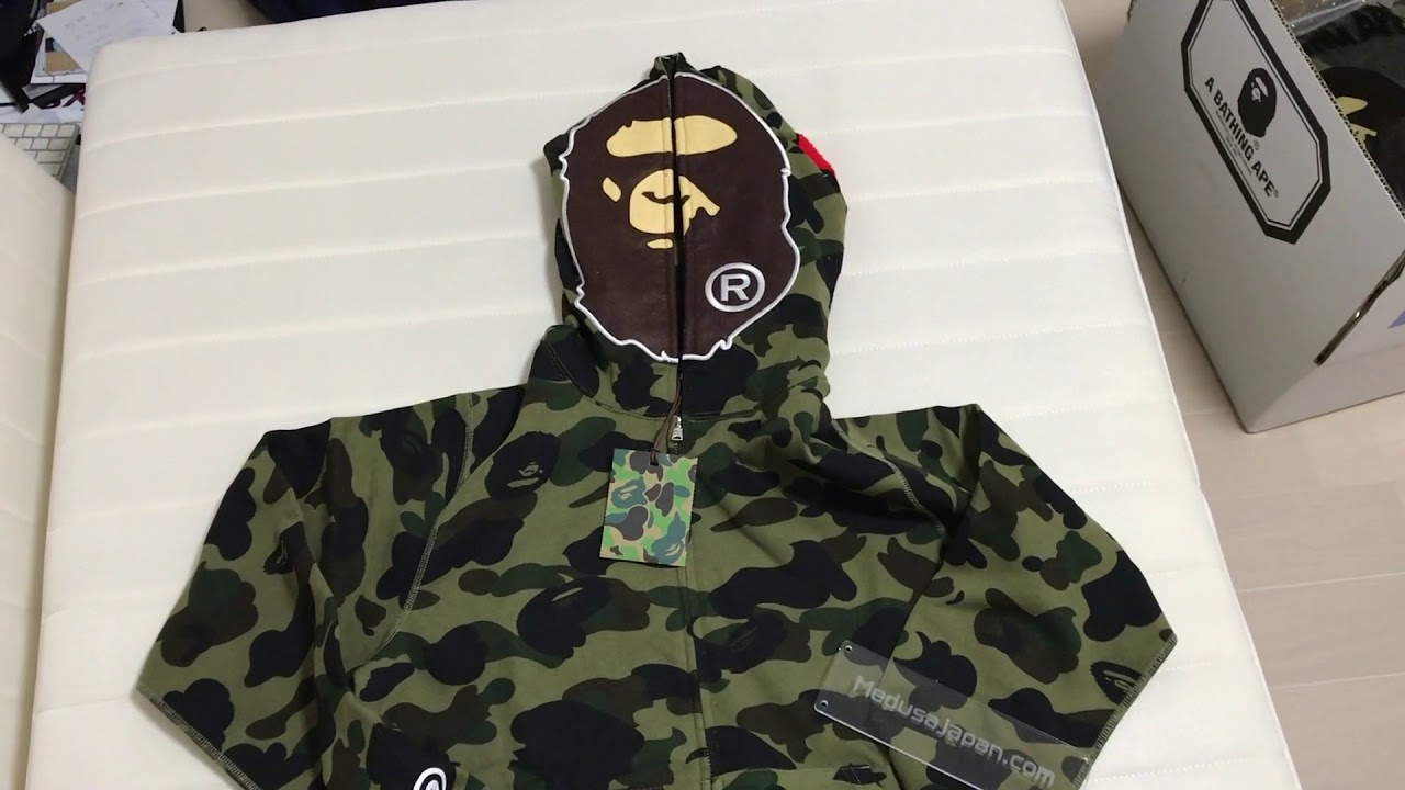 08ebf79e Bape - 1st Camo 2nd Ape Full Zip hoodie - YouTube