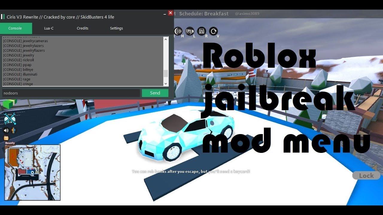 Roblox Jailbreak New Mod Menu Free Download Youtube