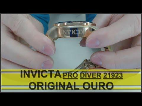 INVICTA Pro Diver Ref 21923 ORIGINAL OURO   Ponto Chave Da Importação