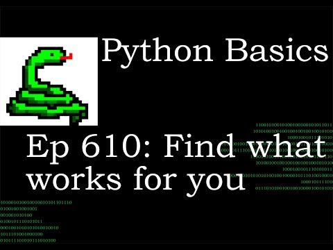 Python Basics Tutorial Find What Works For You thumbnail