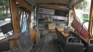 Трамвай без вагоновожатой пронесся по городу и тормознул в собрата