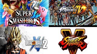 FIGHTING GAMES STREAM!!! (SSB4, KOFXIV, DBX2, SFV)