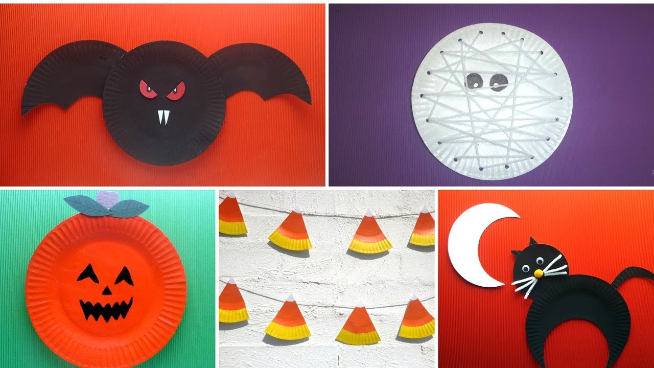 Paper Plate Crafts For Halloween