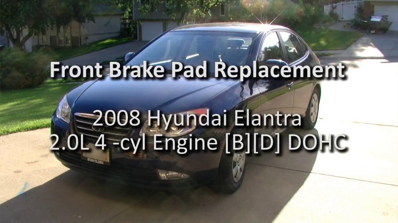 2008 hyundai elantra front brake pad replacement new brakes