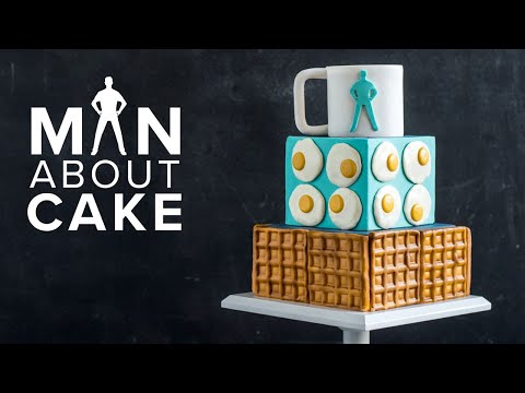 BRUNCH CAKE with Italian Meringue Buttercream Tutorial | Man About Cake with Joshua John Russell