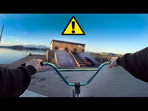 GoPro BMX RIDING ON ILLEGAL STREET SPOTS!!