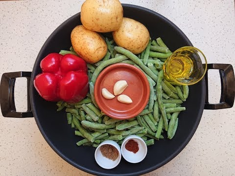 One Pot Recipe - Green Beans And Potatoes - Super Healthy And Easy