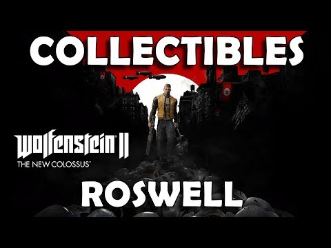 Wolfenstein 2 The New Colossus - Roswell Collectible Locations (Gold, Art, Cards, Records, Toys)