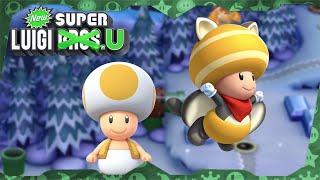 New Super Luigi U Deluxe ᴴᴰ   World 4 (All Star Coins) Solo Toad