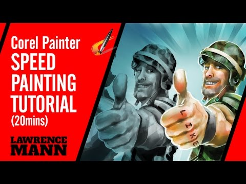 Corel Painter Speed-Painting 'Thumbs-up marine' Tutorial