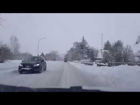 Viel Schnee am 28.02.2018 in Langenhorn, Nordfriesland