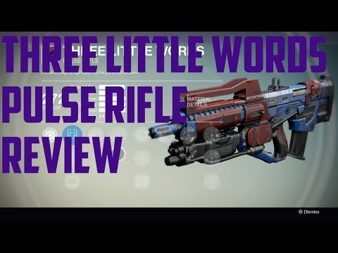 Destiny: Three Little Words Legendary Pulse Rifle Review, After Pulse Rifle Buff!