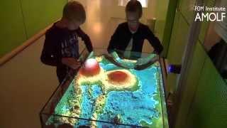 AMOLF Open Dag 2015 Augmented Reality-zandbak