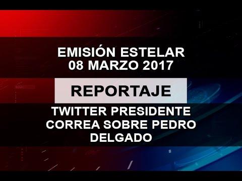 TWITTER PRESIDENTE CORREA SOBRE PEDRO DELGADO