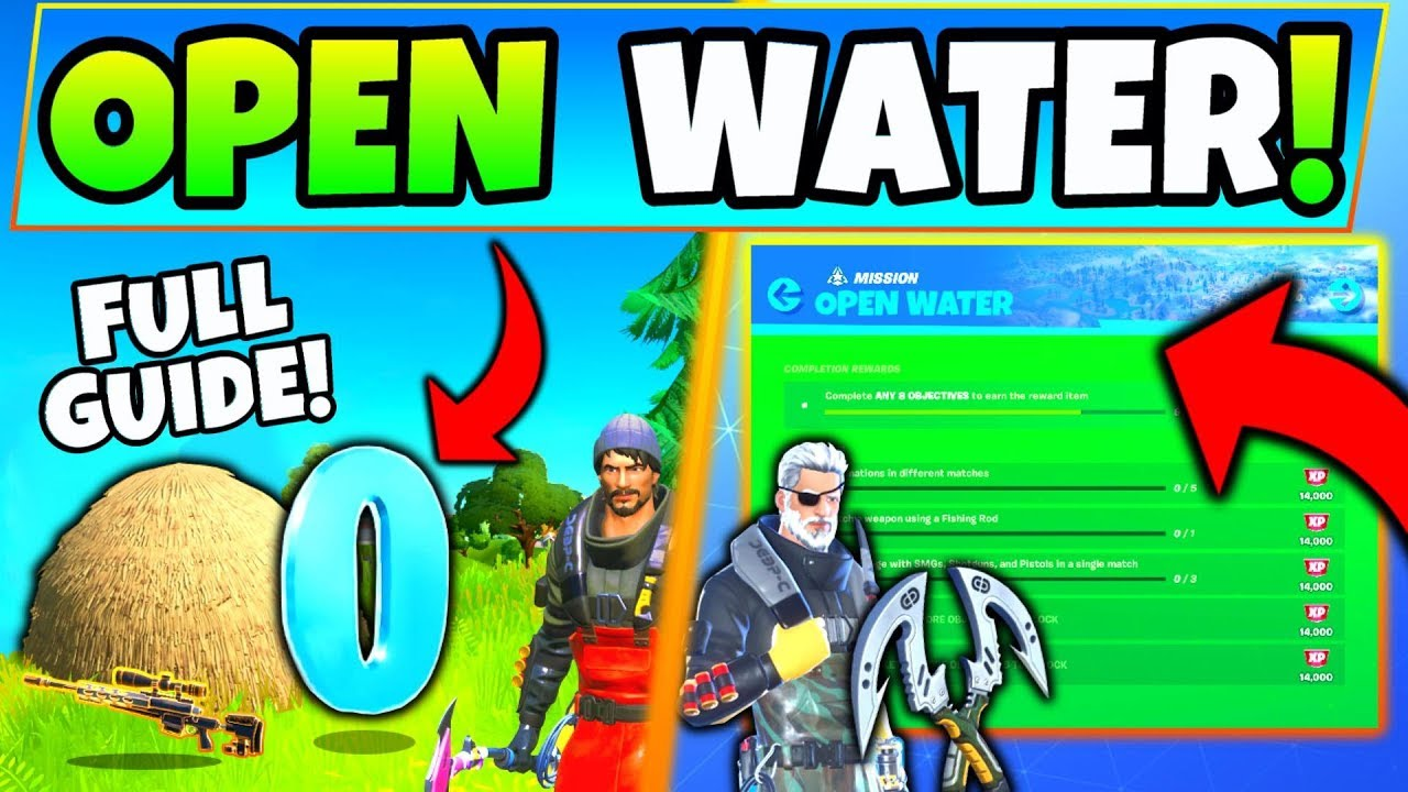 Fortnite Open Water Challenges Guide Chapter 2 Hideouts Hidden O Fortnite Season 11