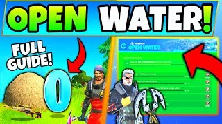 Fortnite OPEN WATER CHALLENGES GUIDE CHAPTER 2! - Hideouts, Hidden O (Fortnite Season 11)