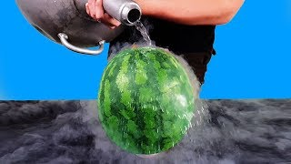 Experiment: Liquid Nitrogen Vs Watermelon