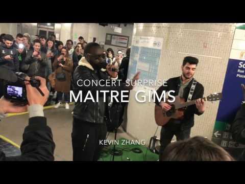 concert de Maître Gims au métro Châtelet Les Halles