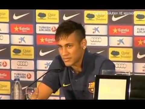Coletiva de Neymar no FC Barcelona 03 06 2013 INTERVISTA INTERVIEW PRESS CONFERENCE