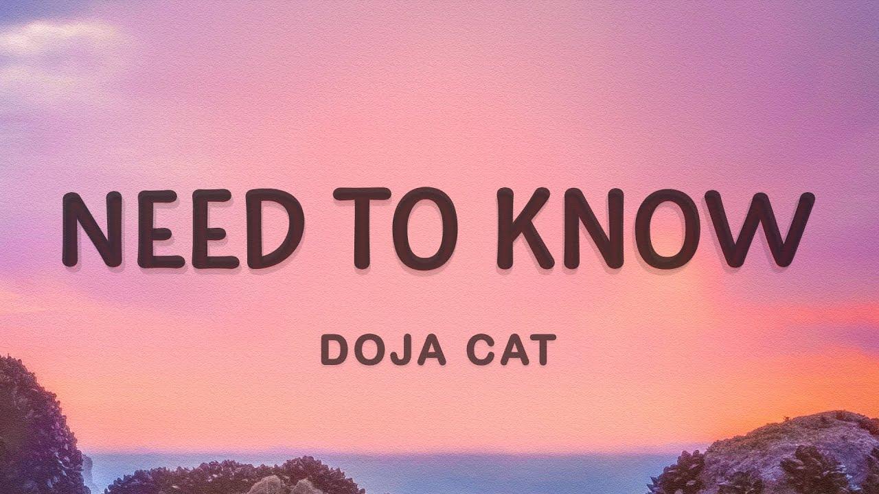 Doja Cat - Need to Know (Lyrics)