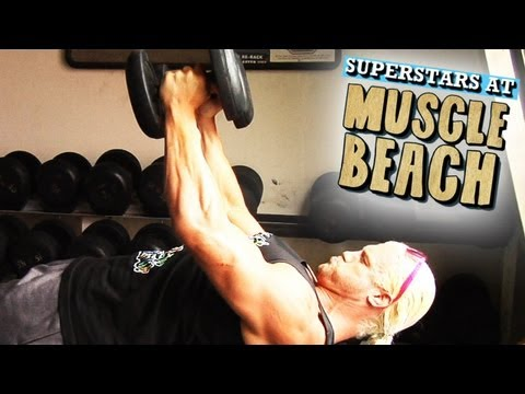 Dolph Ziggler at the legendary Muscle Beach Gym