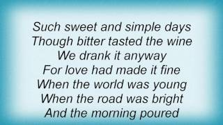 Ron Sexsmith - Dandelion Wine Lyrics