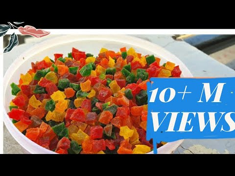 बेकार तरबूज के छिलके से बनाएं ऐसी टूटी फ्रूटी जो मार्केट से से भी बेहतरीन होंगी/tutti Frutti Recipe