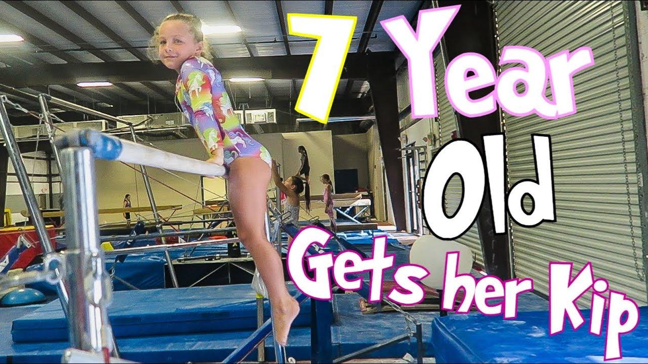 Coach Life: 7 Year Old Gymnast Gets Her Kip| Rachel Marie