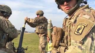 M252A1 81-мм минометный огонь • Обучение армии США