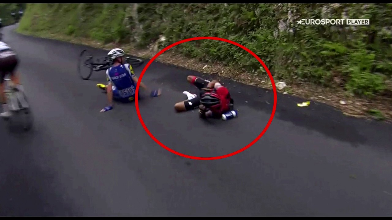 Richie porte downhill crash tour de france 2017 broken for Richie porte tour de france