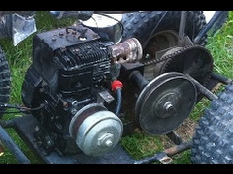 First Start Of The Briggs And Stratton 8hp Sco Trike