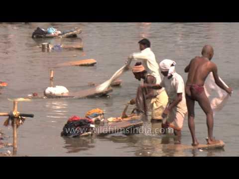 Varanasi's dhobi ghat polluting river Ganges