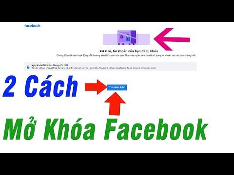2 Cách Mở Cho Tài Khoản Facebook Mới Bị Khóa | Unlock Facebook