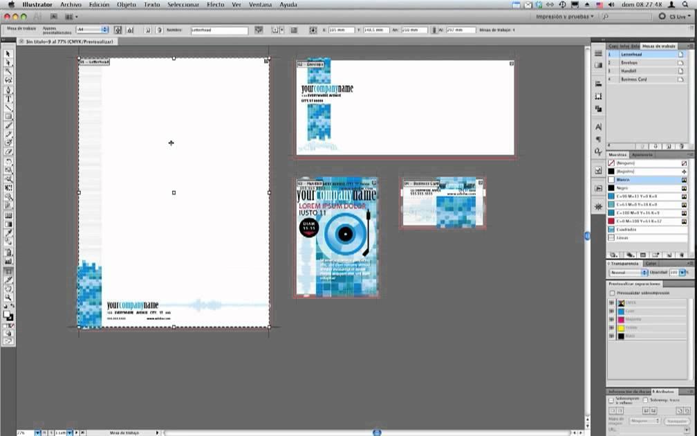 Illustrator cs5 mesas de trabajo youtube for Mesa de trabajo dimensiones