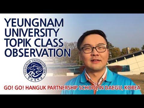 Yeungnam University TOPIK class observation