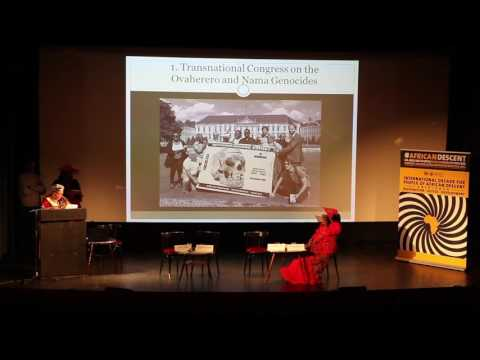 [#8]Ovaherero and Nama Genocide Congress in Berlin 2016: Panel 1: Hon. Ida Hoffman