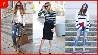 How to Wear Stripped Sweater