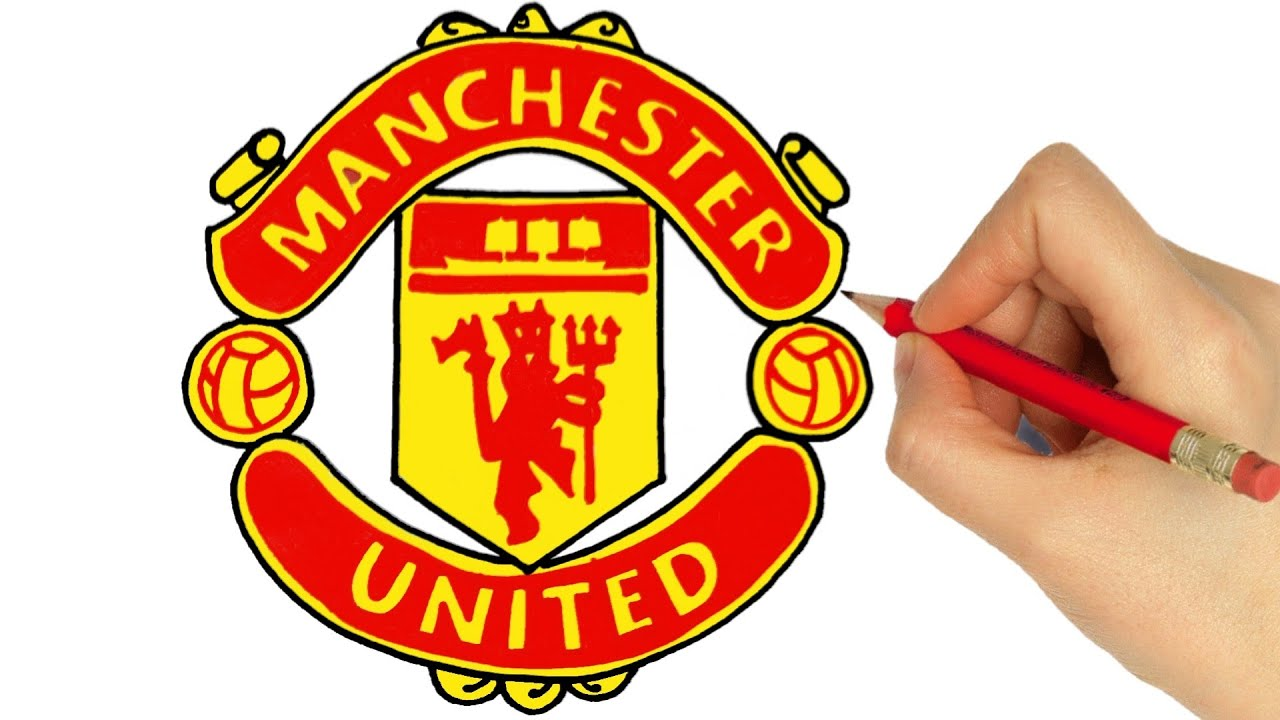 How To Draw Manchester United Logo Youtube