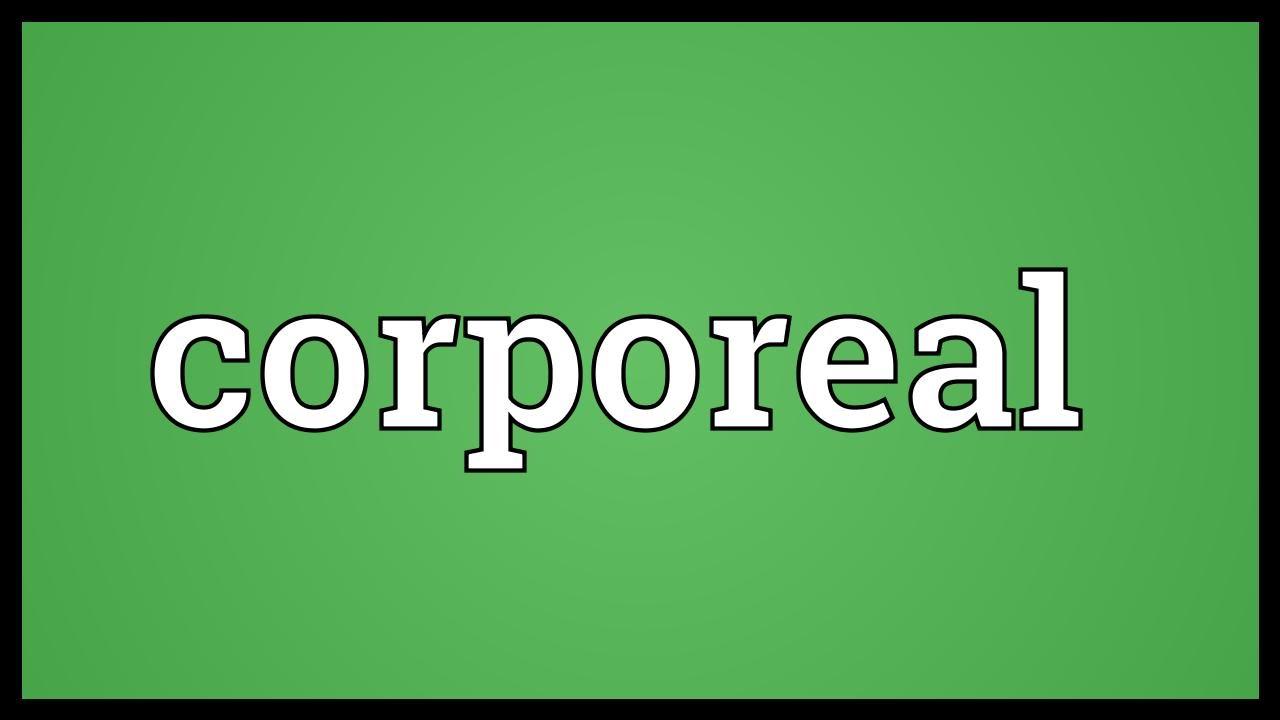 corporeal definition
